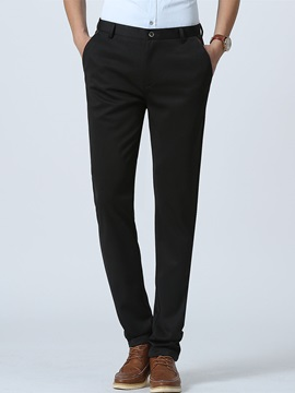 Flat-Front Straight Men's Casual Pants