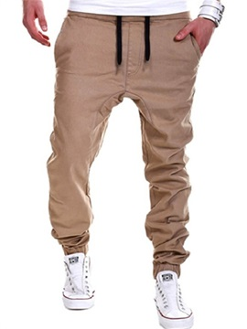Tidebuy Plain Lace-Up Men's Jogging Pants