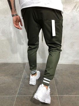 Lace-Up Plain Men's Sports Casual Pants