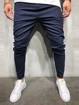 Side Stripe Slim Fit Men's Casual Pants