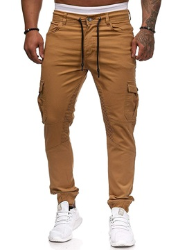 Lace-Up Plain Pocket Overall Men
