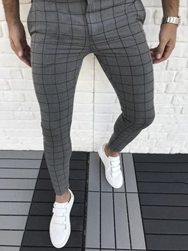 Color Block Pencil Casual Men's Pants