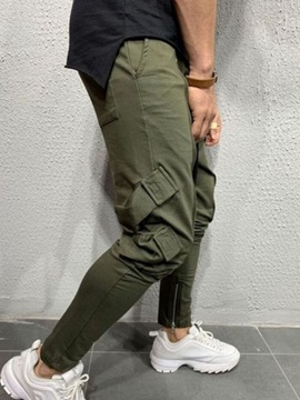 Lace-Up Pencil Pants Sports Men's Casual Pants