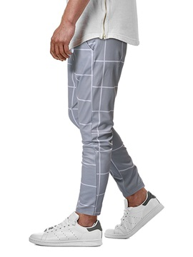 Plaid Pencil Pants Print Summer Men's Casual Pants