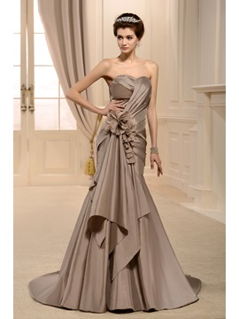 Fabulous Trumpet/Mermaid Sweetheart Floor-Length Pick-ups Chapel Color Wedding Dress & attractive Hot Sale Wedding Apparel