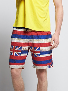 Tidebuy Stripe Color Block Men's Beach Board Shorts