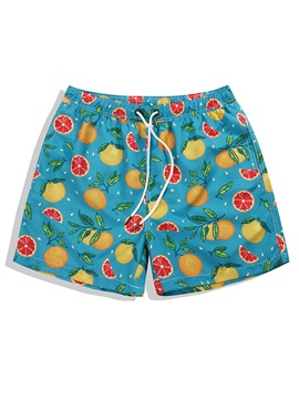 Tidebuy Colorful Fruit Men's Beach Board Shorts