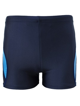 Tidebuy Solid Color Men's Swim Boxer Shorts