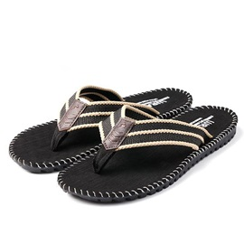 British Crochet Thong Flat Beach Sandals