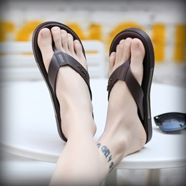 PU Thong Flip-Flops for Men