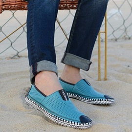 PU Hollow Slip-On Casual Shoes