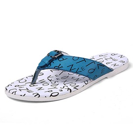 Letters Printed Thong Flat Sandals