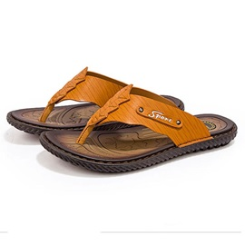 PU Thread Thong Men's Slippers