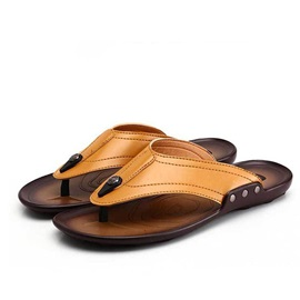 British PU Thong Beach Sandals