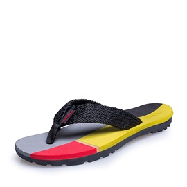 Color Block Thong Beach Sandals