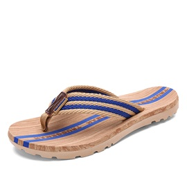 Striped Thong Beach Sandals
