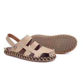 Cozy PU Thread Flat Sandals