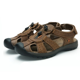 PU Thread Velcro Beach Sandals