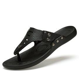 British PU Thong Flat Sandals