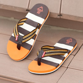 Striped Thong Crochet Flip-Flops