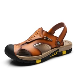 Cool Closed Toe Slingback Beach Sandals for Men