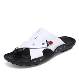 Breathable PU Slip-On Beach Sandals