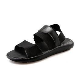 PU Open-Toe Elastic Band Sandals