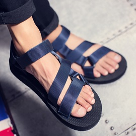 Open-Toe Simple Color Sandals for Men