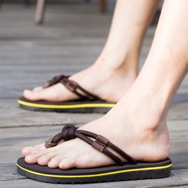 Beach PU Thong Slip-On Men's Sandals
