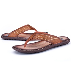 PU Plain Slip-On Thong Sandals for Men
