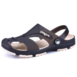 PVC See-Through Plain Closed Toe Sandals for Men
