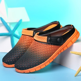 Mesh Color Block Slip-On Colorful Men's Sandals