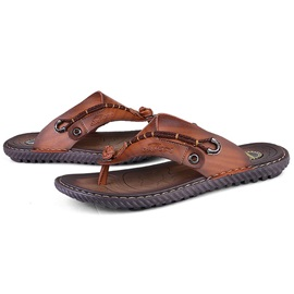PU Thong Sewing Sandals for Men