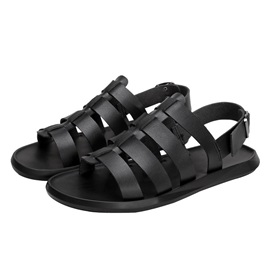 Plain Buckle Open Toe Men's Sandals