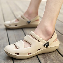 PVC Slip-On Round Toe Men's Sandals