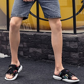 Color Block Summer Simple Men's Slippers