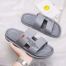 Letter Print Simple Summer Men's Slippers