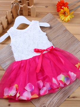 Colorful Rose Vest Ball Gown Dress