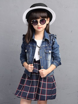 Fall Fashion Plaid Dress & Denim Suit