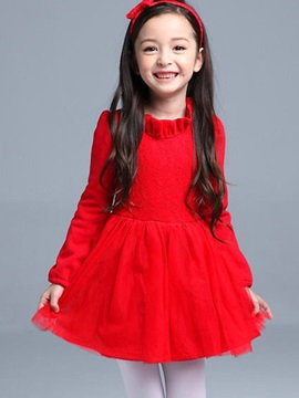 Sweet Falbala Collar Mesh Pleated Girls' Outfits