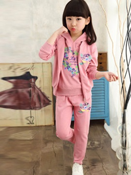 Simple Printed Thickening Girls' Outfits