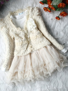 Lace Dress & Long Sleeve Small Fragrant Outfit