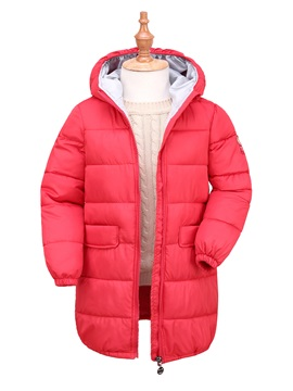 Long Style Zip-Front Boy's And Girl's Coat