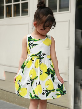 Sleeveless Knee-Length A-Line Girl's Dress