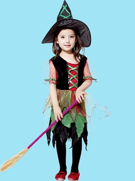 Halloween Cosplay Witch Pumpkin Girl And Baby Costume