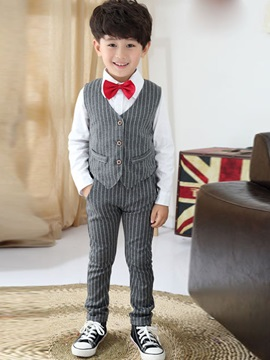 Stylish Stripe Designed Boy's 3-Piece Outfit