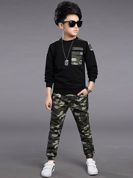 Camouflage Printed Boy's 2-Piece Outfit