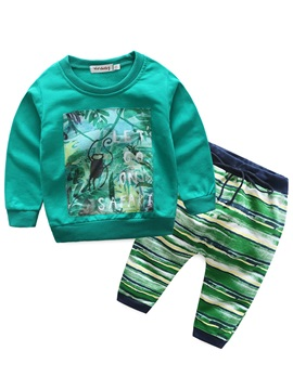 Colorful Adventure Boy's 2-Piece Outfit