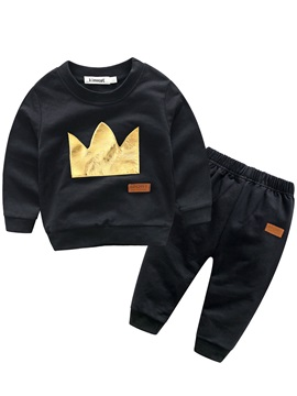 Black Crown Boy's 2-Piece Outfit