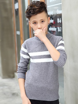 Stripe Pullover Thick Boys' Sweater